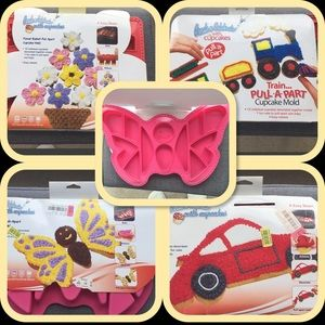 Bundle of silicone kids cake pans